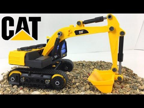 cat-fabricantes-de-maquinas-la-excavadora-juego-de-construccion-machine-maker-con-brazo-hidrÁulico