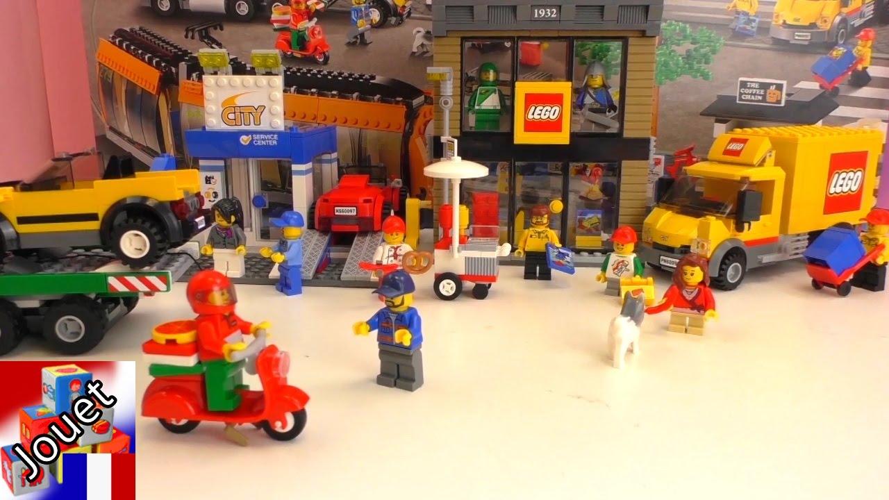 Lego lkw transporter construction d mo camion jaune lego city centre ville 60097 youtube - Lego camion police ...
