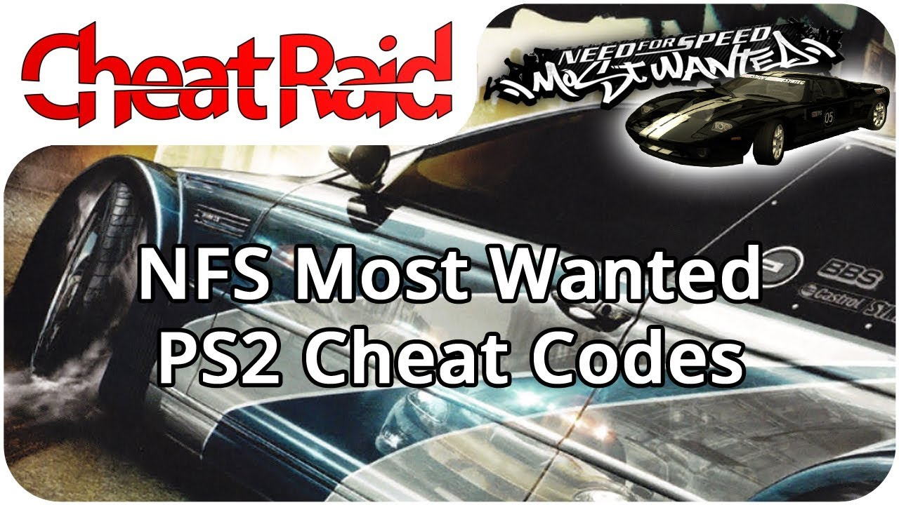 Need For Speed Most Wanted Cheat Codes Ps2 Youtube