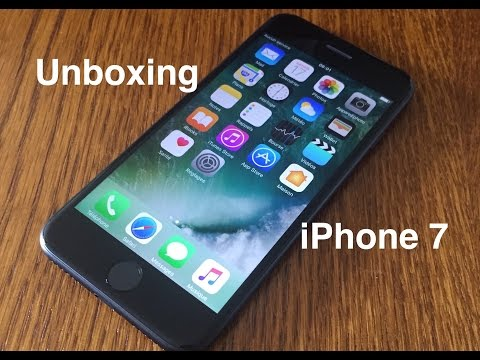 #Unboxing : iPhone 7 + premier démarrage