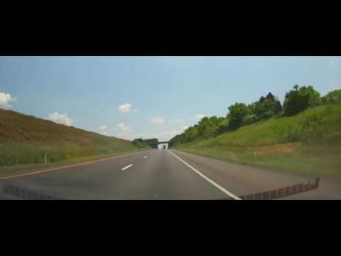 Driving on Interstate 80 - Pennsylvania from Clinton County