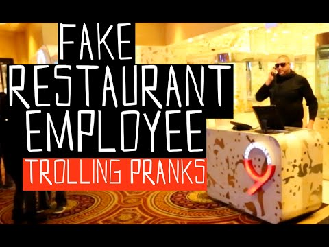 Fake Restaurant Employee.