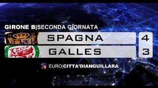 SPAGNA - GALLES  4 - 3  [Gir.B - Seconda Giornata]