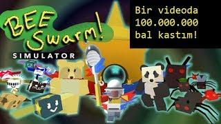 BİR VİDEODA 100 MİLYON BAL!!! Roblox Bee Swarm Simulator Roblox Türkçe