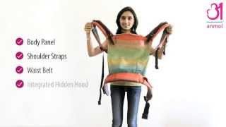 Anmol Baby Carrier - Front Carry Instructions