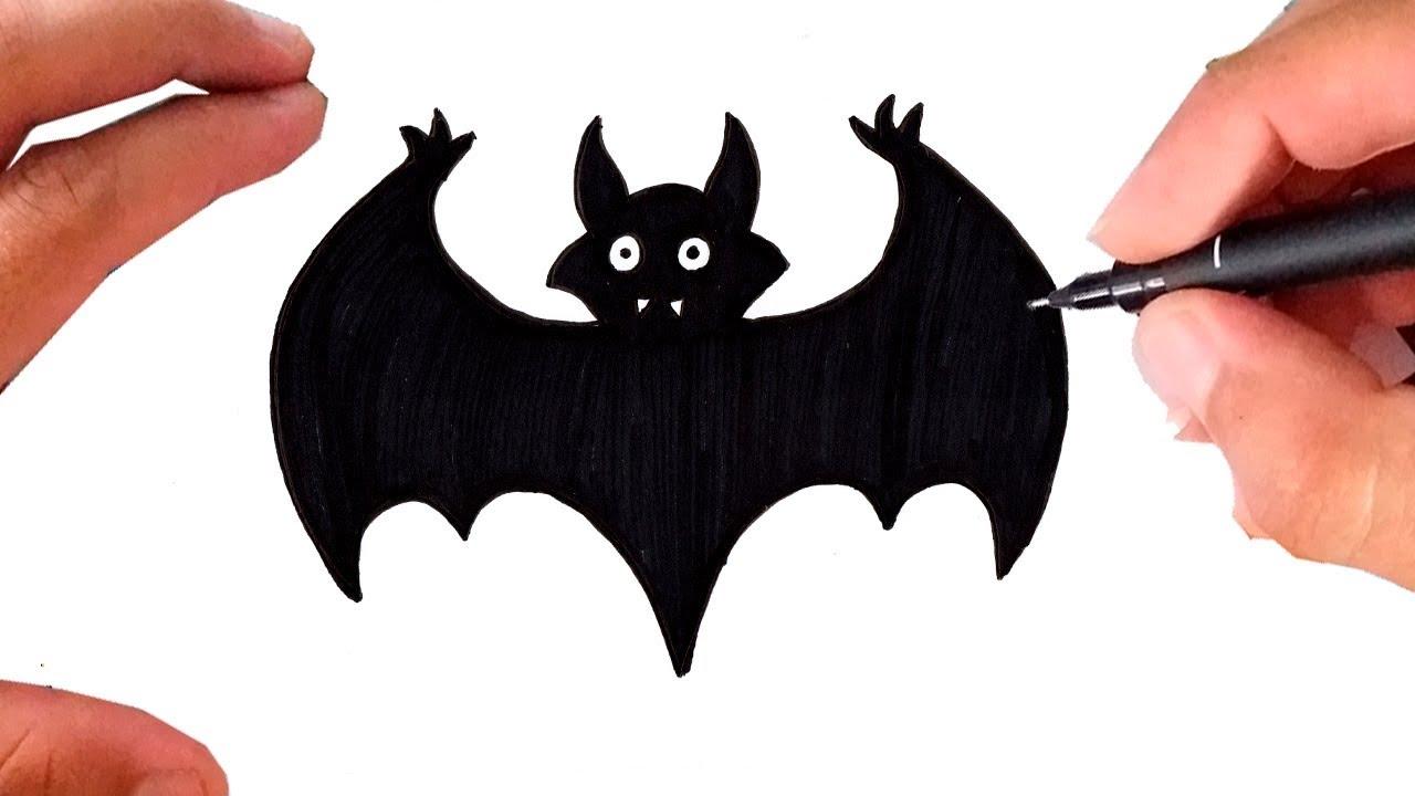 Como Desenhar Um Morcego Halloween Super Facil Youtube