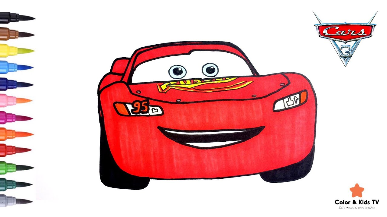 Cars 3 Lightning Mcqueen Coloring Book Pages For Children
