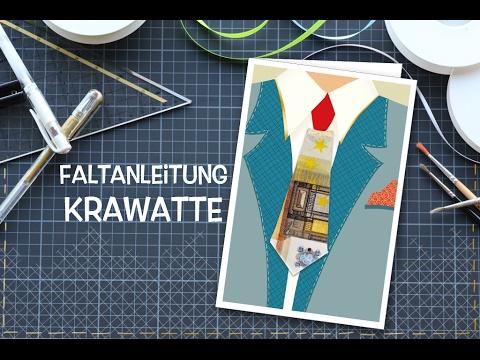 Krawatte Aus Geldschein Falten Faltanleitung Für Origami Krawatte