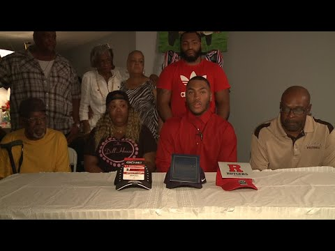 WATCH: Warren Harding's Kay'Ron Adams emotionally commits to Rutgers