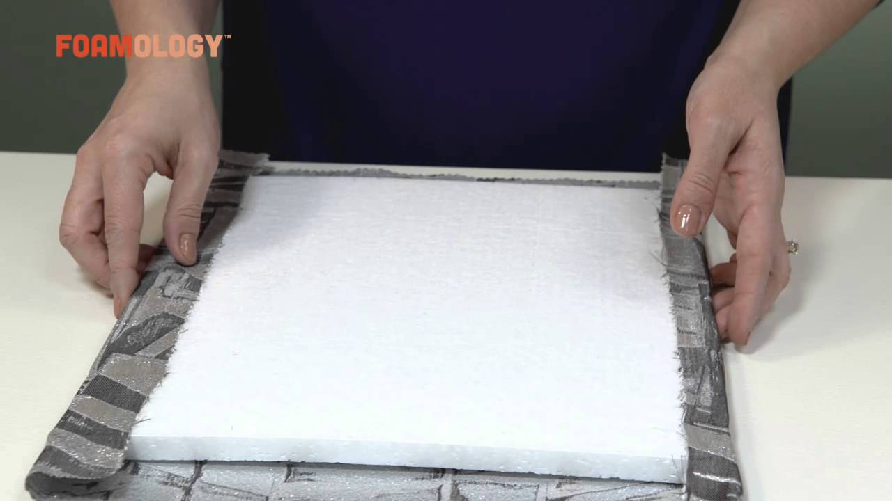 How To Make Fabric Wall Tiles With Rigid Design Foam   YouTube