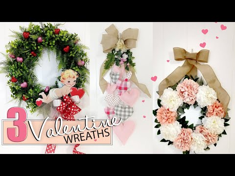 Dollar Tree Valentine DIY 2020   Valentine Wreath DIY   Collab - Julie's Wreath Boutique