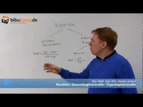 Gesamtkapitalrendite Und Eigenkapitalrendite - Formeln, Definition Und Berechnung