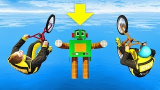 IMPOSSIBLE LAND ON ROBOT CHALLENGE! (GTA 5 Funny Moments)