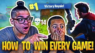 TEACHING 9 YEAR OLD BROTHER HOW TO WIN 99.99% OF SOLOS 'NEW' SKIN IS INSANE! FORTNITE BATTLE ROYALE!