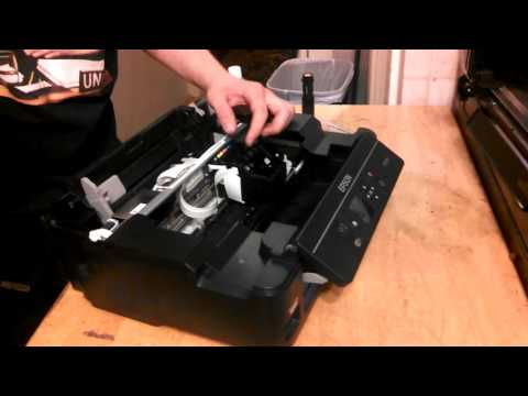 Print Head REMOVAL - Epson XP-320 and XP-310 - Fixing Clogged Heads