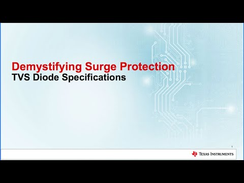 Demystifying Surge Protection: TVS Diode Specifications