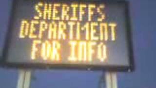 Illegal Sign by Sheriff in San Bernardino County.