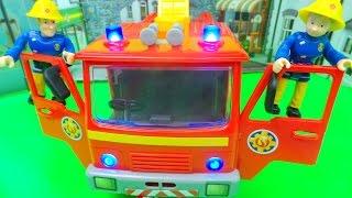 Feuerwehrmann Fireman Sam Feuerwehrauto DELUXE JUPITER Spielzeug ausgepackt und angespielt unboxing