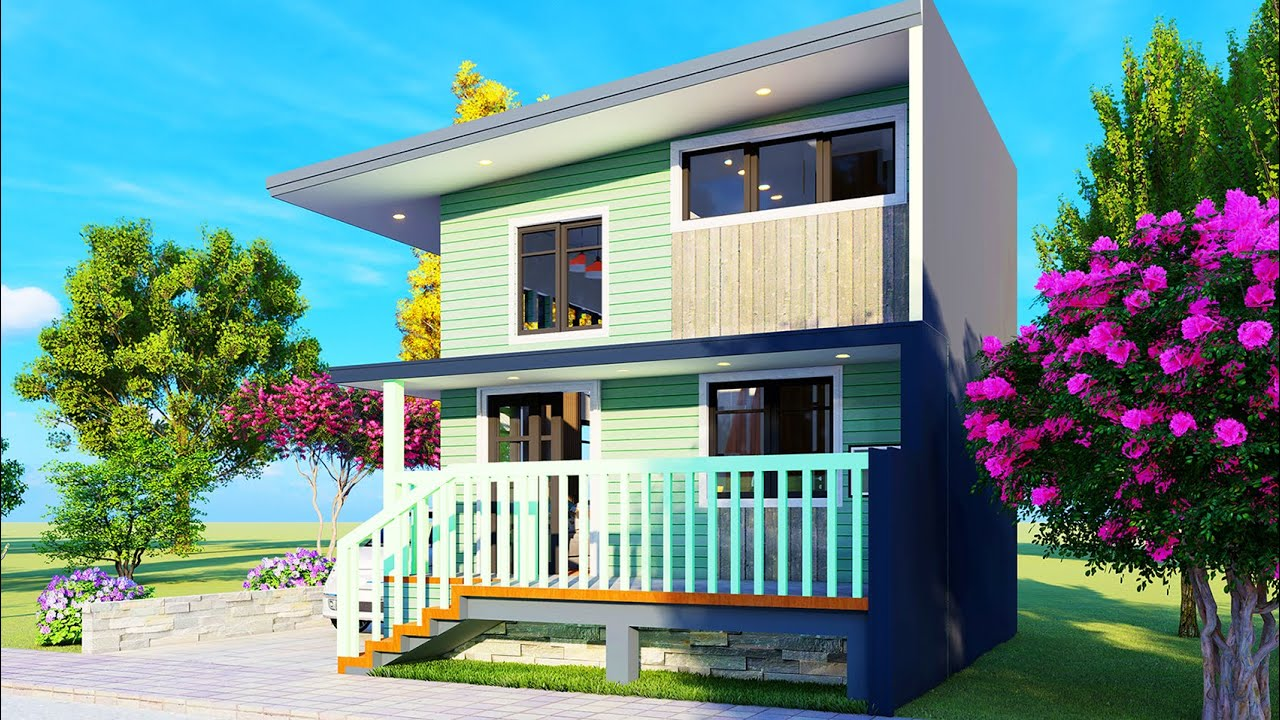 5x4m Small House Elevated Design #shorts