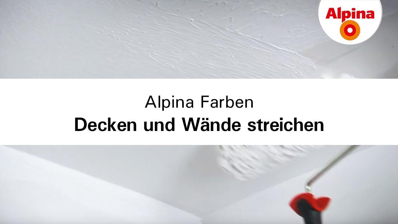 Alpina Farben - Decken und Wände richtig streichen - YouTube