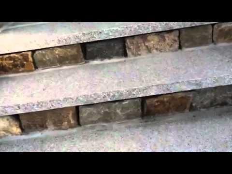 Granite Treads And Stone Veneer Risers Youtube