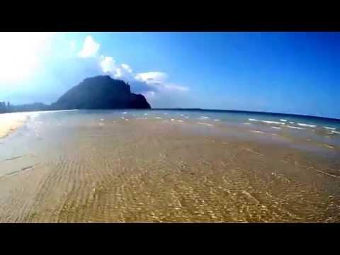 หาดทุ่งทรายบางเบิดทะเลฝั่งอ่าวไทยSea water