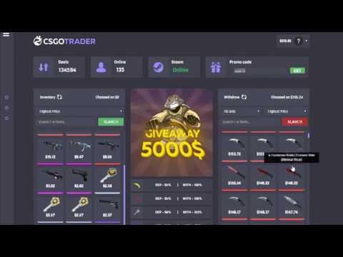 Сайт для торговли в CS: GO! Промо-код на бесплатные 50$ в описании!