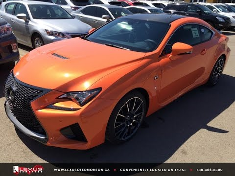 New 2015 Orange Solar Flare Lexus RC F Performance Package Review North Edmonton