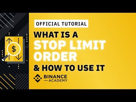 Cara Menggunakan Stop Limit - Stop Loss Di Binance