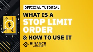 How to use a Stop Limit - Stop Loss on Binance