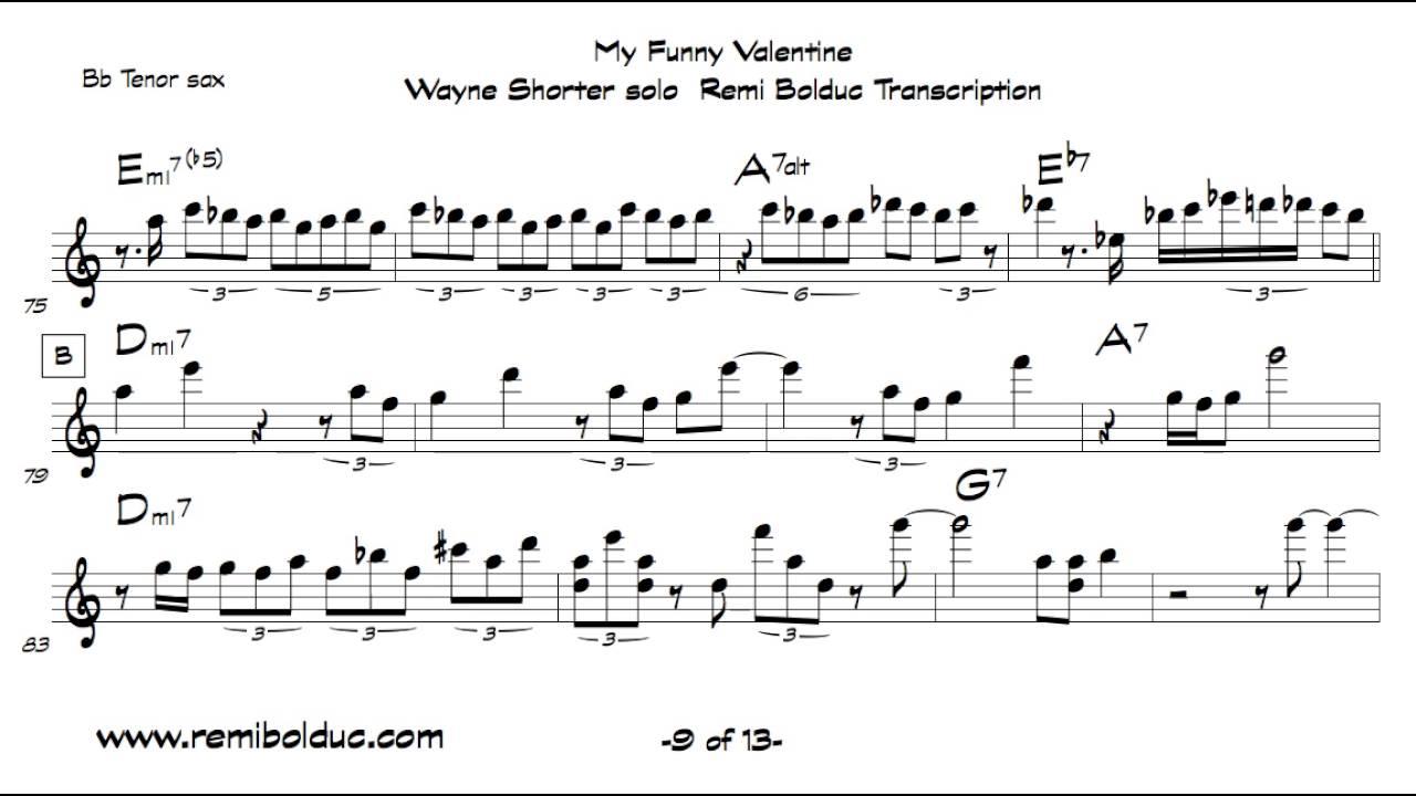 Wayne Shorter On My Funny Valentine
