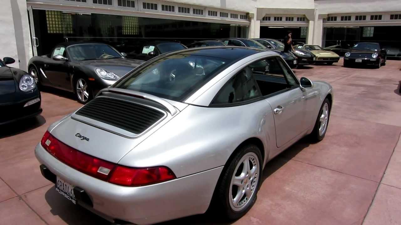 92 1997 Porsche 911 Targa 993 Arctic Silver Black 41 000