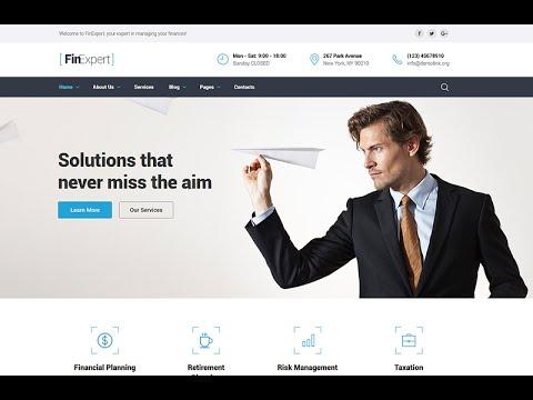 Financial Advisor Website Template #58940 – Business