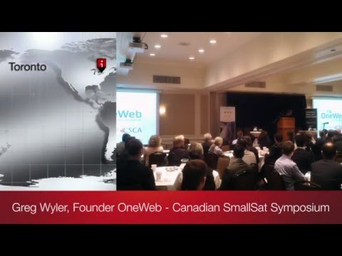 Greg Wyler, Founder of OneWeb Speaks at the 2016 Canadian SmallSat Symposium