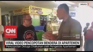 Viral! Video Pencopotan Bendera di Apartemen
