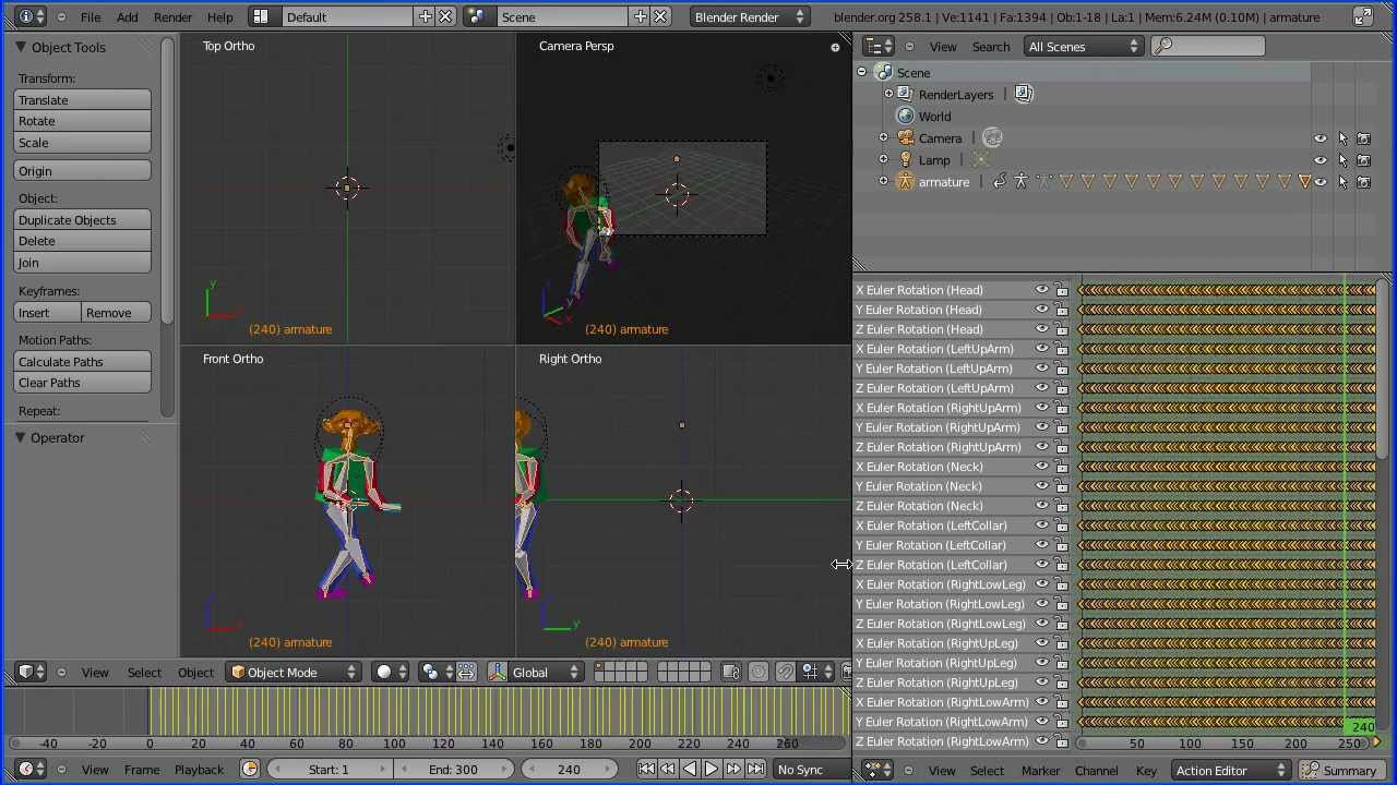 Blender Tutorial Importing Motion Capture Data ( bvh) Files and Setting Up  a Simple Rig Part 1
