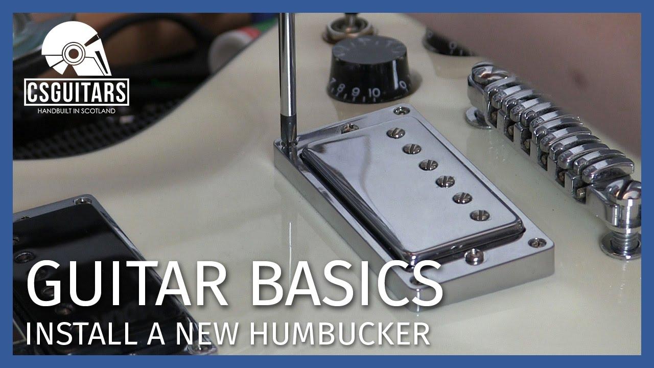Install A New Humbucker Guitar Basics Youtube Warman Pickup Wiring Diagram