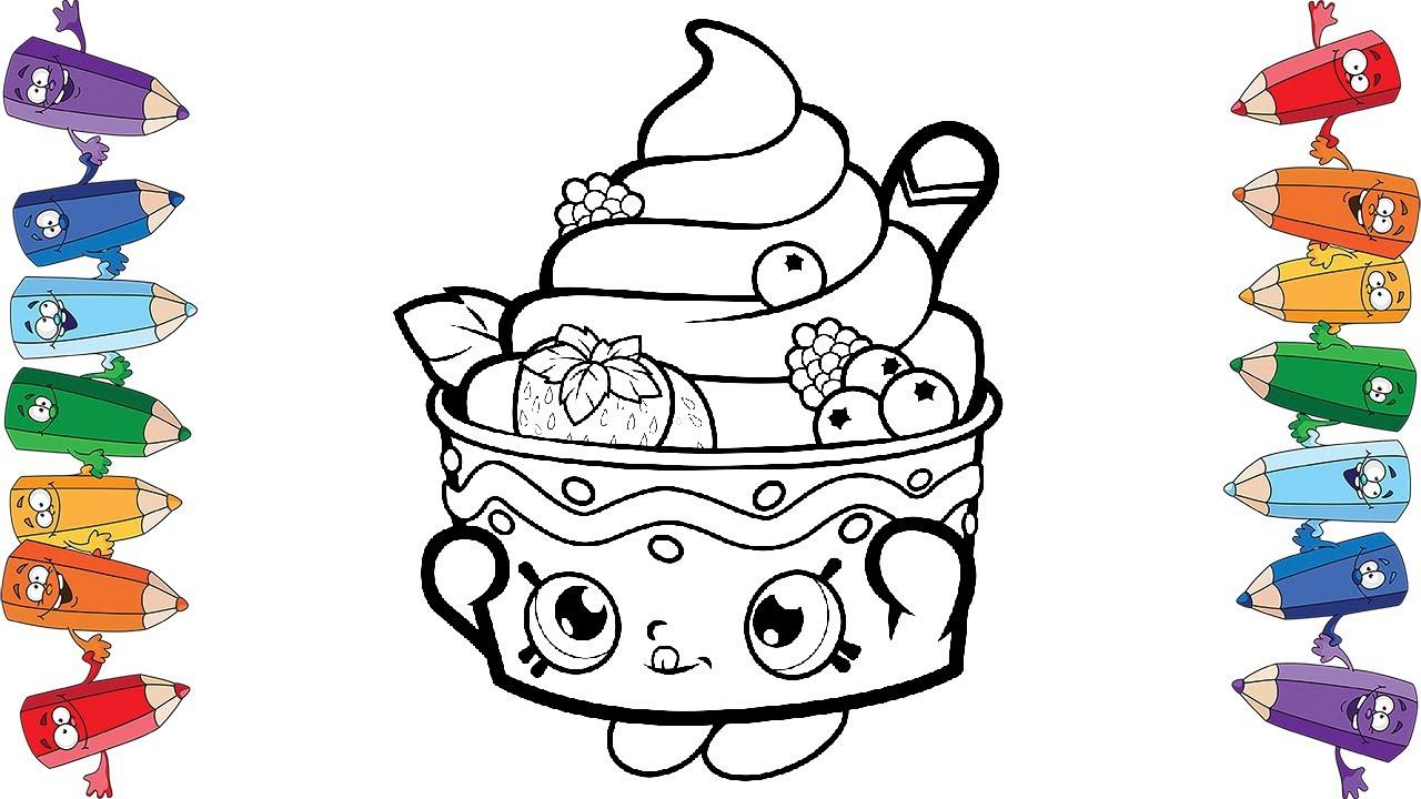 Шопкинс мороженое раскраска для детей Shopkins Ice cream ...