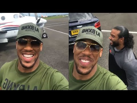 "(FUNNY) ANTHONY JOSHUA TAKES THE MAYWEATHER CHALLENGE: ""THIS AIN'T MY PLANE"""
