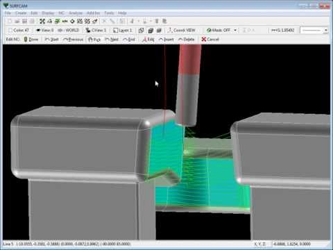 SURFCAM Tutorial - Introduction to 5-Axis Swarf, Part 2