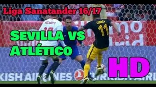 Sevilla vs Atlético de Madrid 1-0/All Goals & Extended Highlights 23/10/16 HD