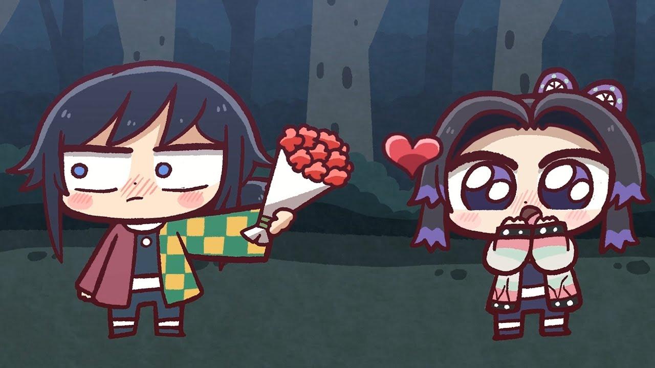 귀멸의 칼날: 기유가 시노부에게 고백해요!! (Kimetsu no Yaiba: Giyu confesses to Shinobu)