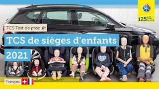 Test TCS de sièges d'enfants 2021