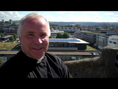 On the roof with the Dean of Bristol Cathedral