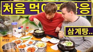 삼계탕을 처음 먹어본 영국 요리사! (137/365) British Chef Tries 'Samgyetang' For The First Time!