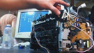 HP LJ P1102 Як розібрати, заміна термоплівки. Ремонт грубки