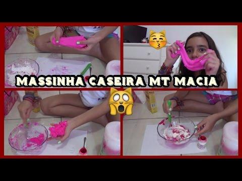 Massinha Caseira - Muito Macia e Fácil! - Soft and Easy Homemade Clay!