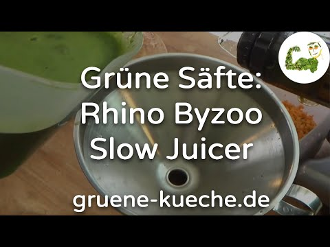 Rhino Byzoo Slow Juicer - grüne Säfte zubereiten (Teil 4/5)