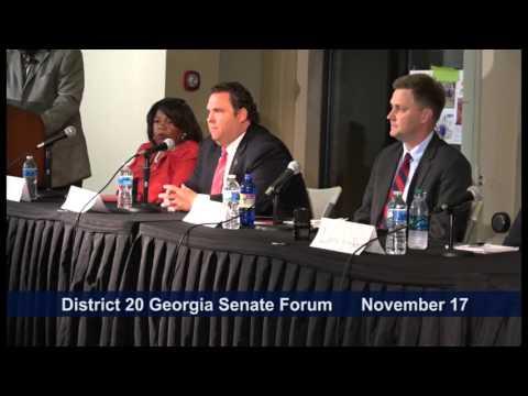 District 20 Georgia State Senate Candidate Forum November 17, 2015