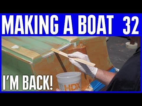 How to Build a Small Electric Wooden Boat #32 Total Protect Coating